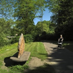 Bench at Welshmill Forest along the River Corridor