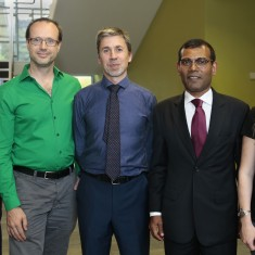 Richard Pancost, Mark Letcher and Mohammed Nasheed