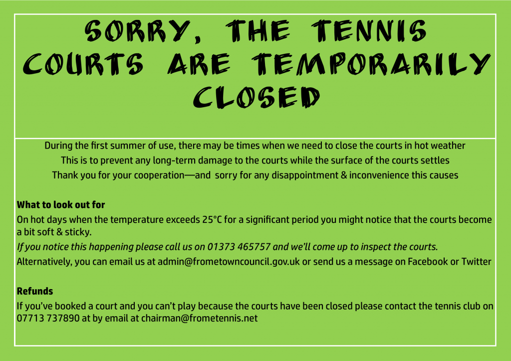 Courts Temporarily Closed