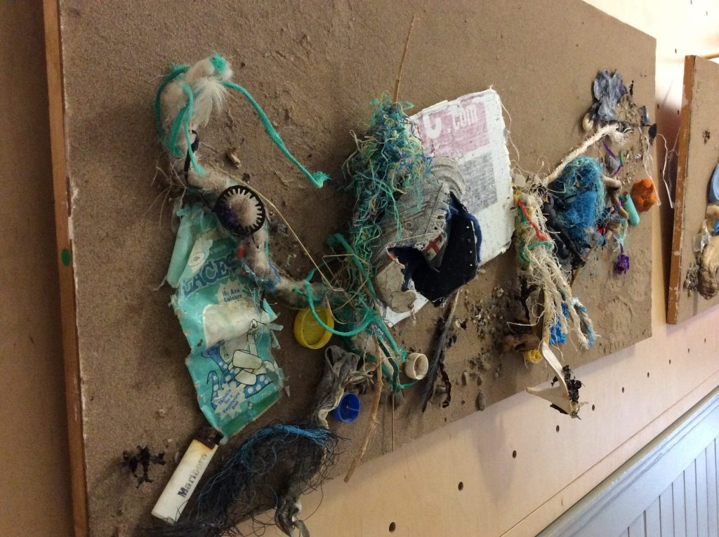 Photo of artwork from the Plastic Tideline exhibition