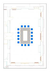 Sample floor plan for council chamber