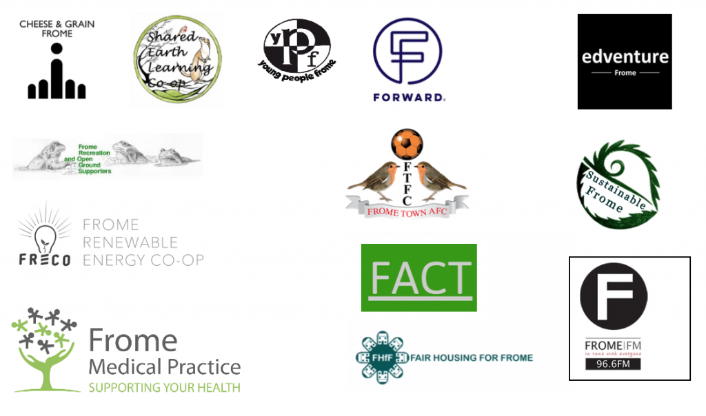 Logos of Frome organisations