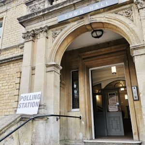 Photo of Frome Town Hall as a polling station for the 2019 Local Elections