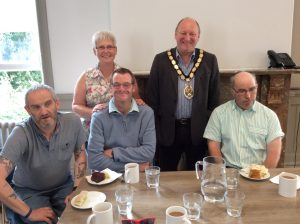 Mayor Mark Dorrington and volunteers
