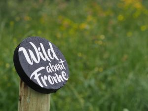 Wild about Frome logo on post