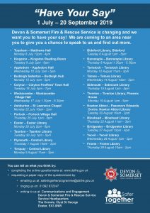 List of venues for fire service consultations