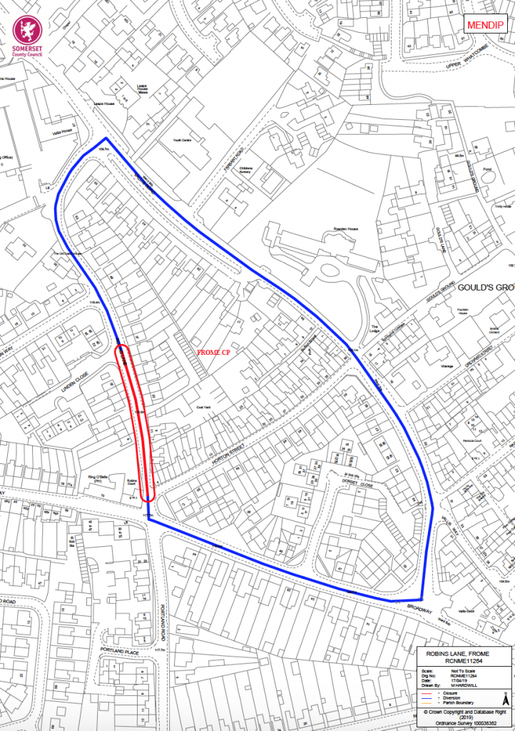 Robins Lane road closure