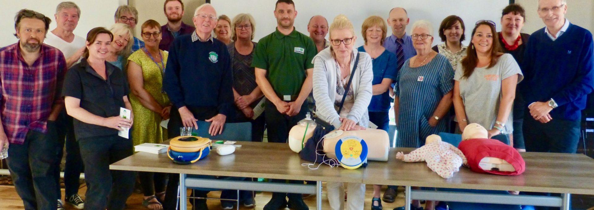 Defibrillator training for council