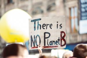 """Placard reading """"There is no planet B"""""""