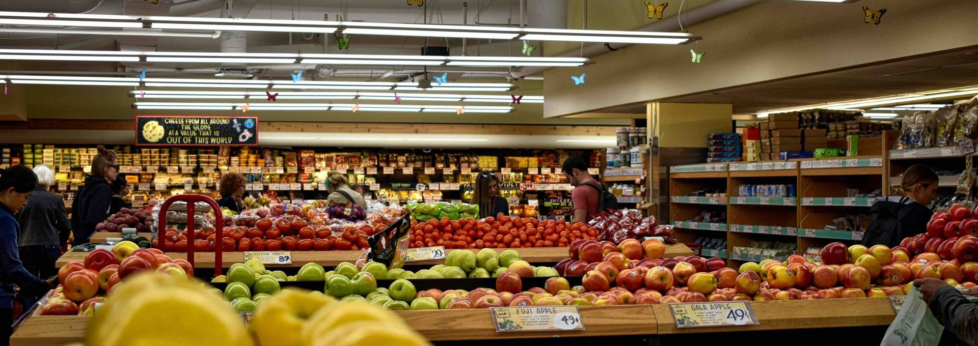 Fruit section of a supermarket