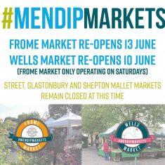 Mendip market reopening announcement