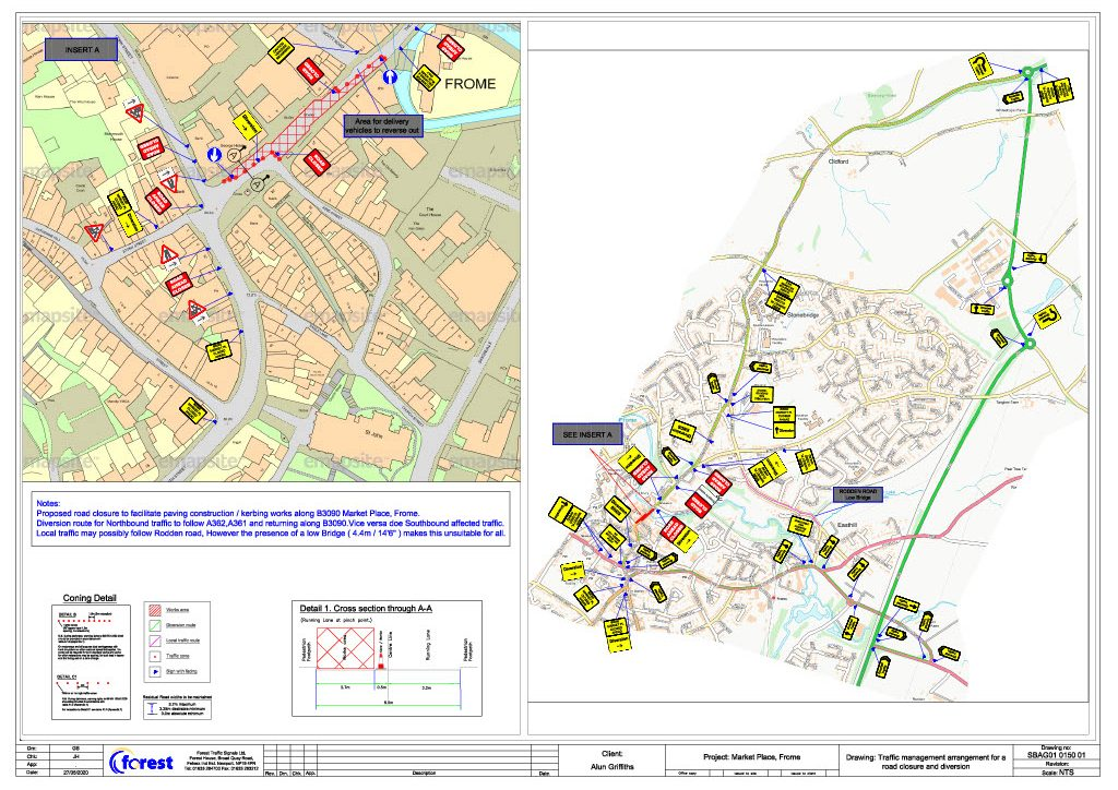 map of market place road closure