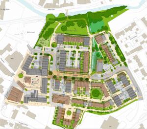 Saxonvale illustrative masterplan, available at planning link