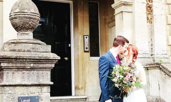 Loren & Brendan married outside Town Hall