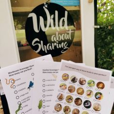 Wild about sharing box in Victoria park with nature activity lists