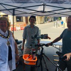 Mayor Anita at the Dr Bike Session at Boyle Cross