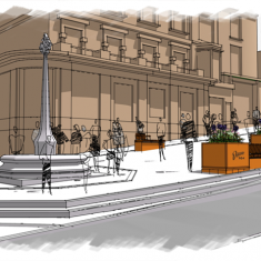 Proposed Boyle Cross Landscaping sketch