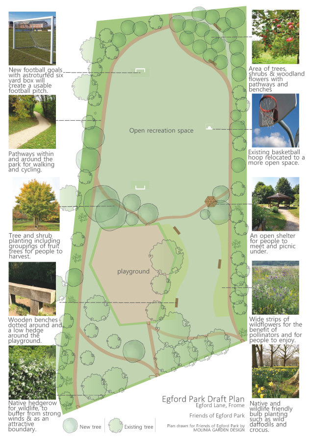Layout of the Egford Lane draft plan