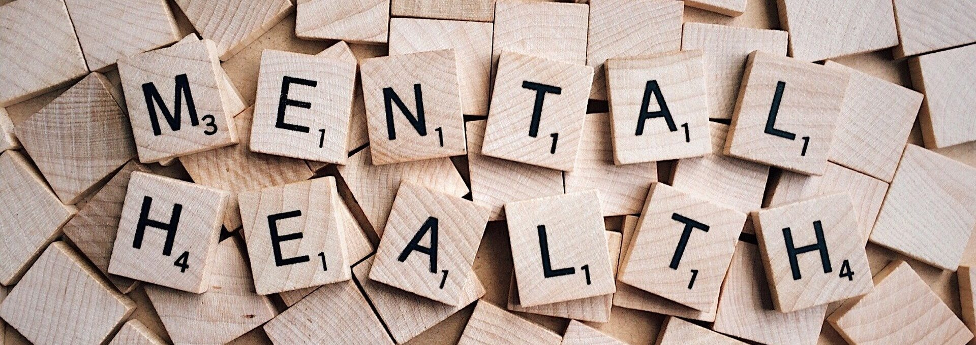 'mental health' spelled out in scrabble letters