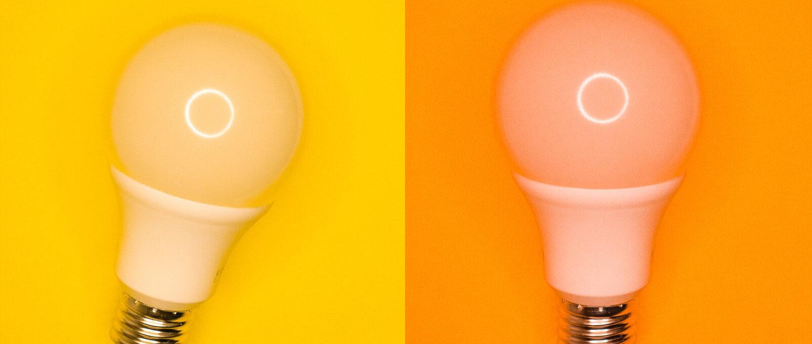 Yellow and orange light bulb representing energy training