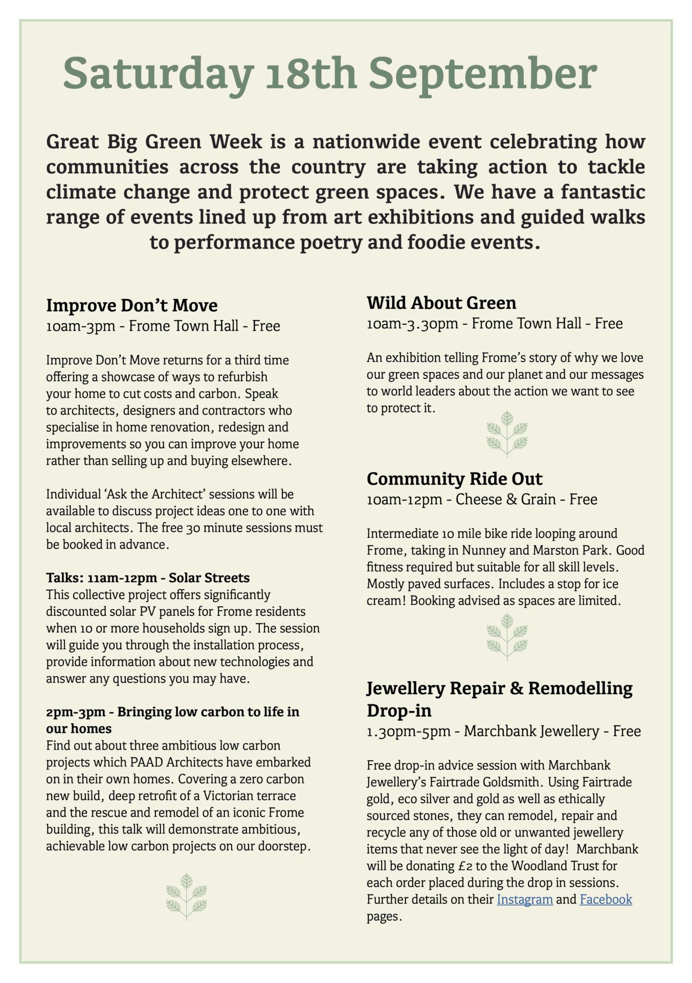 Great Big Green Week 2021 programme page 2
