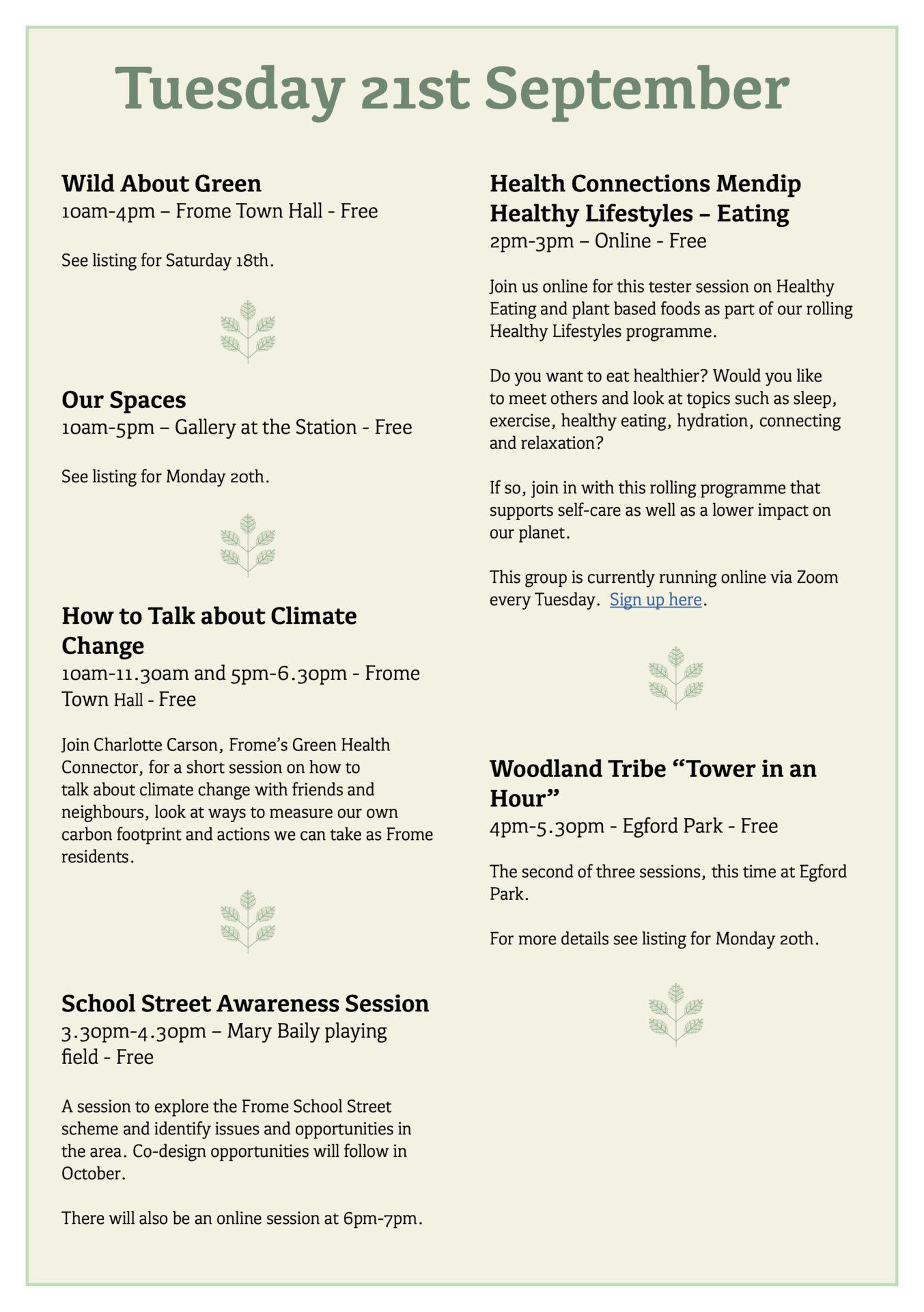Great Big Green Week 2021 programme page 6