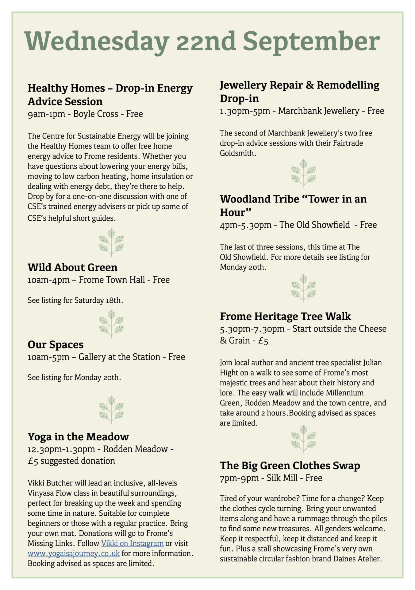 Great Big Green Week 2021 programme page8
